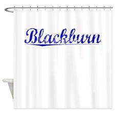 Blackburn, Blue, Aged Shower Curtain