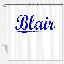 Blair, Blue, Aged Shower Curtain