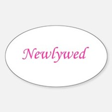 Newlywed Oval Decal