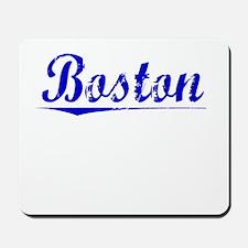 Boston, Blue, Aged Mousepad