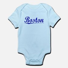 Boston, Blue, Aged Infant Bodysuit