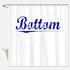 Bottom, Blue, Aged Shower Curtain