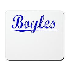 Boyles, Blue, Aged Mousepad