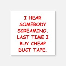 """DUCT.png Square Sticker 3"""" x 3"""""""