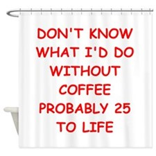 COFFEE2.png Shower Curtain