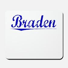 Braden, Blue, Aged Mousepad