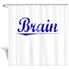 Brain, Blue, Aged Shower Curtain
