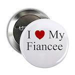 I (heart) My Fiancee Button