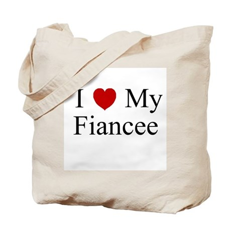 I (heart) My Fiancee Tote Bag