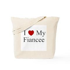 I (heart) My Fiancee Tote Bag