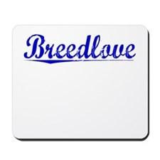 Breedlove, Blue, Aged Mousepad
