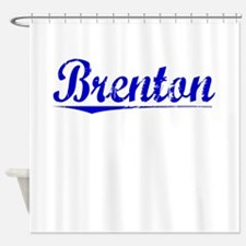 Brenton, Blue, Aged Shower Curtain