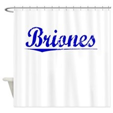 Briones, Blue, Aged Shower Curtain