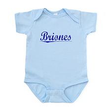 Briones, Blue, Aged Infant Bodysuit