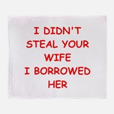 WIFE2.png Throw Blanket