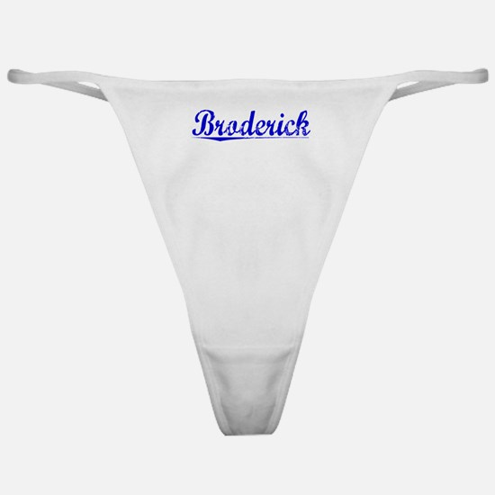 Broderick, Blue, Aged Classic Thong