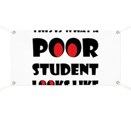 Poor student Banner