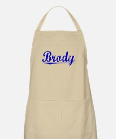 Brody, Blue, Aged Apron