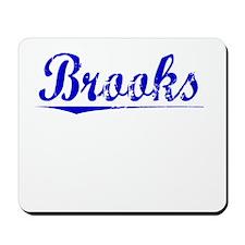 Brooks, Blue, Aged Mousepad