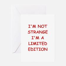 STRANGE.png Greeting Card