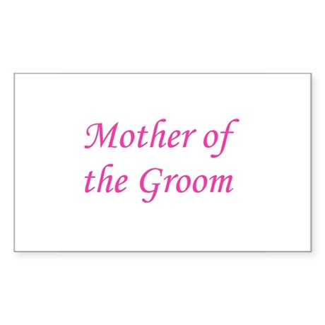Mother of the Groom Rectangle Sticker