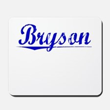 Bryson, Blue, Aged Mousepad