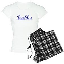 Buckles, Blue, Aged Pajamas