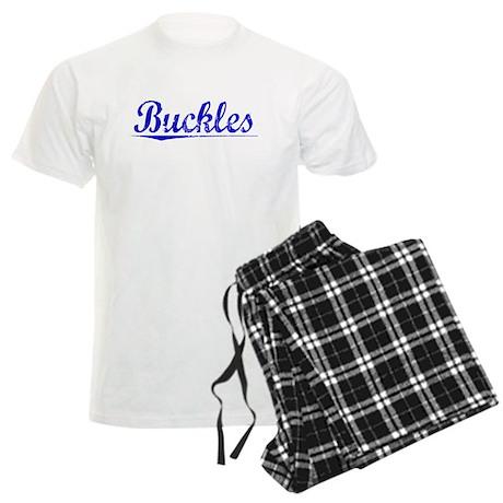 Buckles, Blue, Aged Men's Light Pajamas