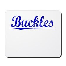 Buckles, Blue, Aged Mousepad