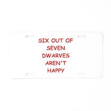 DWARVES.png Aluminum License Plate