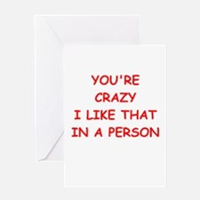 CRAZY.png Greeting Card