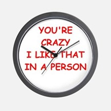 CRAZY.png Wall Clock