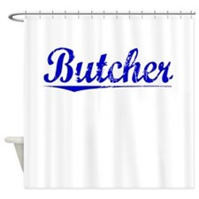Butcher, Blue, Aged Shower Curtain