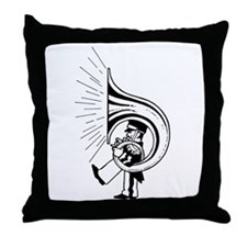 TubaGuy Throw Pillow