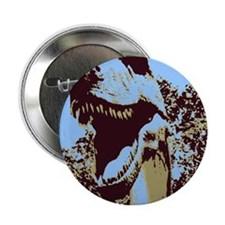 "Dinosaur T-Rex Pop Art 2.25"" Button"