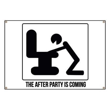 After party is coming Banner