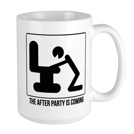 After party is coming Large Mug