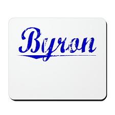 Byron, Blue, Aged Mousepad