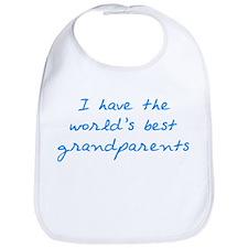 Best Grandparents (blue) Bib