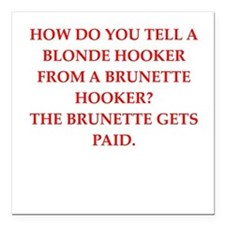"""hookers Square Car Magnet 3"""" x 3"""""""