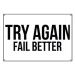 Try again fail better Banner