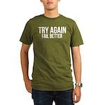 Try again fail better Organic Men's T-Shirt (dark)