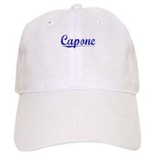 Baseball Capone, Blue, Aged Baseball Cap
