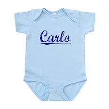 Carlo, Blue, Aged Infant Bodysuit