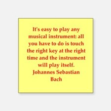 """BACH3.png Square Sticker 3"""" x 3"""""""