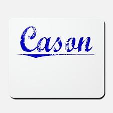 Cason, Blue, Aged Mousepad