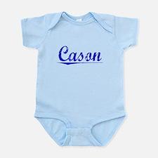 Cason, Blue, Aged Onesie