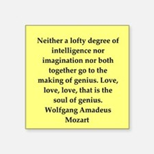 "MOZART4.png Square Sticker 3"" x 3"""