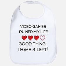 Video games ruined my life Bib