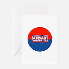 stewart/colbert 08 Greeting Cards (Pk of 10)